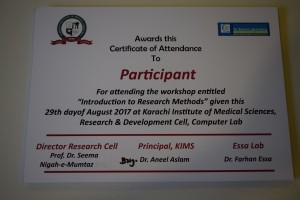 Workshop On Research Methodology